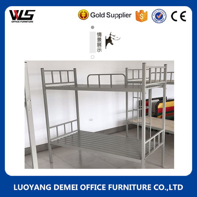 2017 New Bedroom Furniture Metal Material Bunk Bed Loft Double Cot