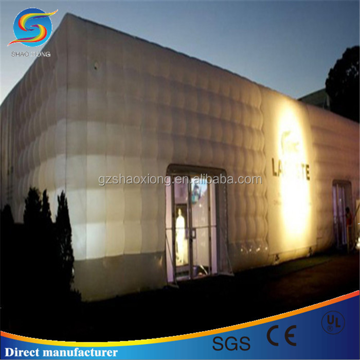 White inflatable bubble marquee