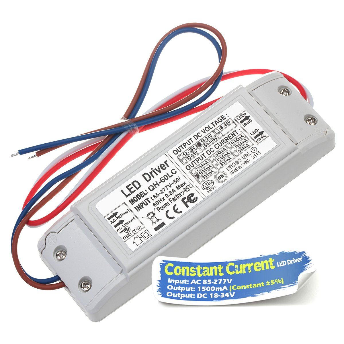 21V-34V x10 70W 80W 90W 100W IP67 Waterproof High Power Supply 3000 mA Lighting Transformer for 100 W COB Chips Constant Current Output In85-277V AC-DC 7-10 Chanzon LED Driver 3000mA Aluminium