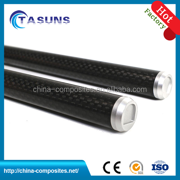 Hollow round carbon fiber tube connectors