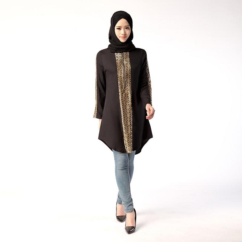 f9732c3a1a4 Middle East Plus Size Abayas Muslim Long Blouse Tunics Islamic Clothing For  Women Turkish Malaysian Saudi Dubai Style Top - Buy Middle East