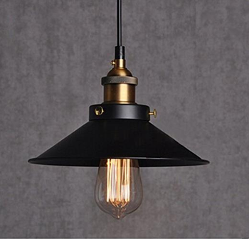 Simple Black Metal Chandelier Pendant Light
