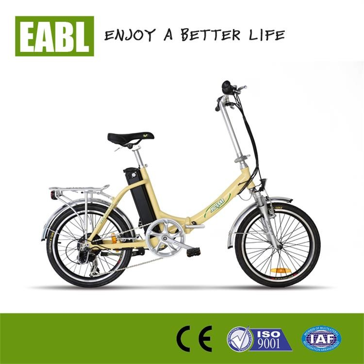Electric Pedal Bike With Hybrid Motor Electric Folding