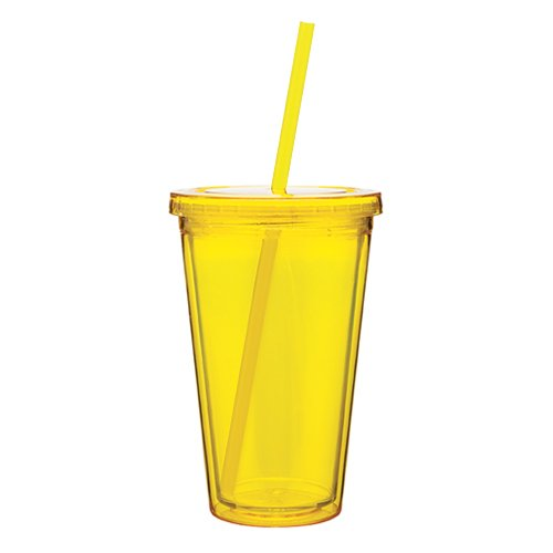 customized 20oz plastic tumbler cup with straw