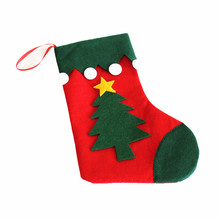 christmas tree design non-woven christmas gift decoration sock