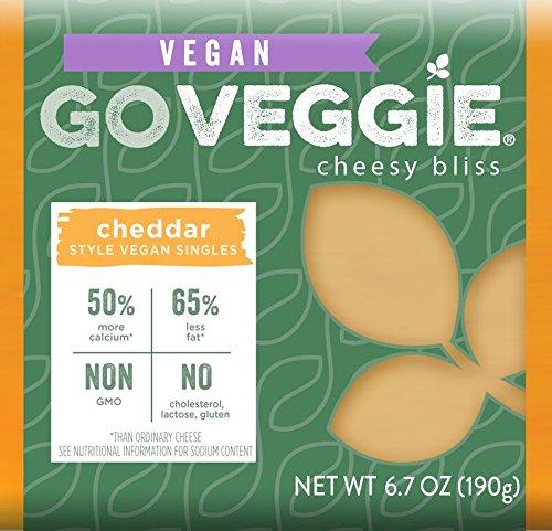 GO Veggie!, Dairy Free Rice Vegan Slices, Cheddar Flavor, 6.7 oz