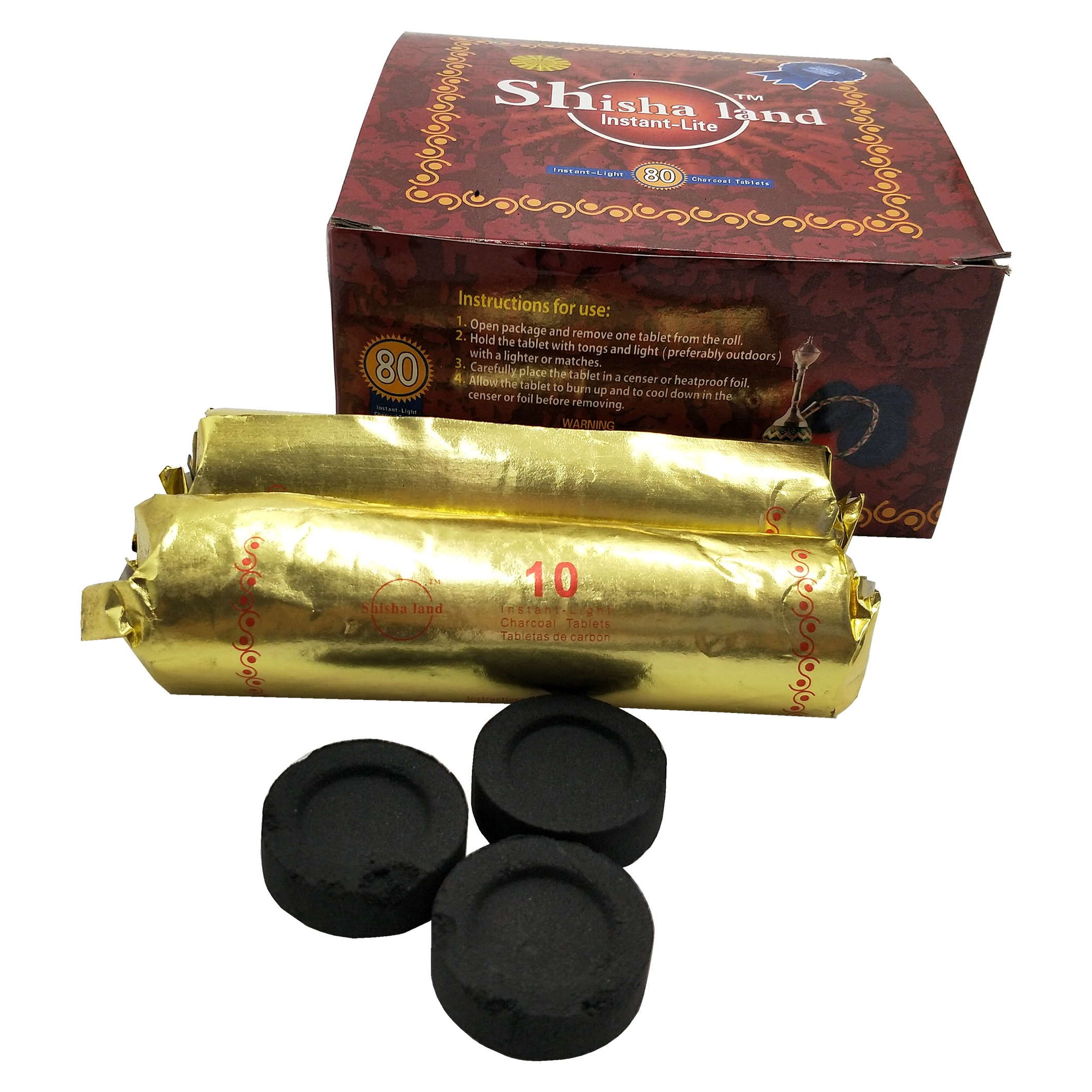 HongQiang Pure fruit three wood swift light shisha hookah charcoal