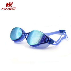 Wholesale optical color mirrored Anti-fog silicone free swim goggles for asian