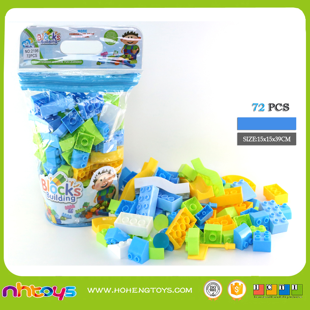 72PCS BLUE LINES SLIDING BLOCK PUZZLE TRACK TOY WITH PVC BAG