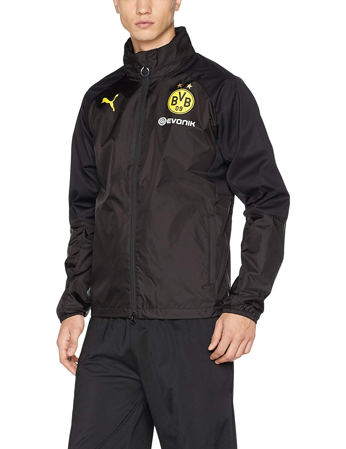 5a5a79763d0f Get Quotations · Borussia Dortmund Rain Jacket 2017   2018 - Black