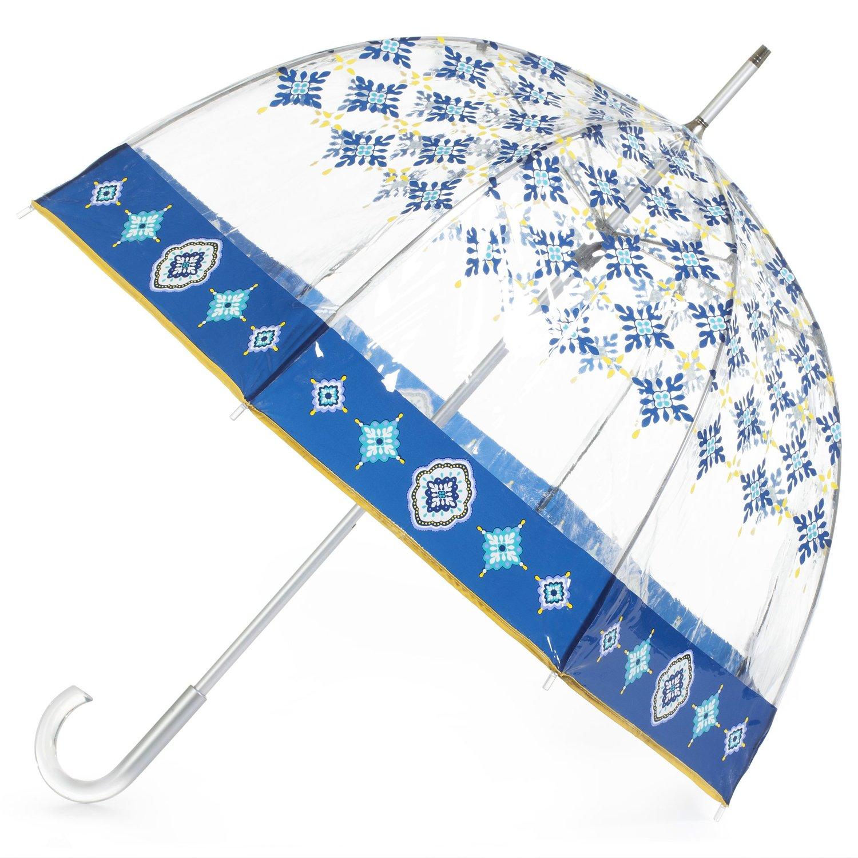 totes Signature Bubble Umbrella - Manual Open, One Size - Nordic Tiles