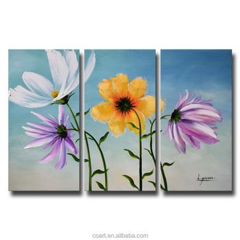 Renkli Papatyalar çiçek Yağlıboya Duvar Resimleri Salon Için Buy