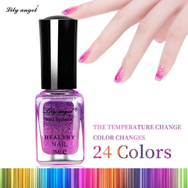 Lilyangel Water Base Soak Off Chameleon Color Chaning Nail Polish Temperature Change