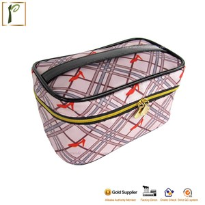 Popwide hotsale zipper polyester cosmetic travel vanity bag toiletry bag