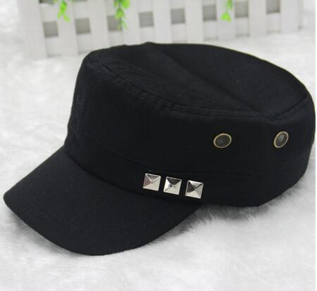 New style blank retro vintage caps with rivet camo fedora hunting topee  promotional cheap hats flat 336c12d06912