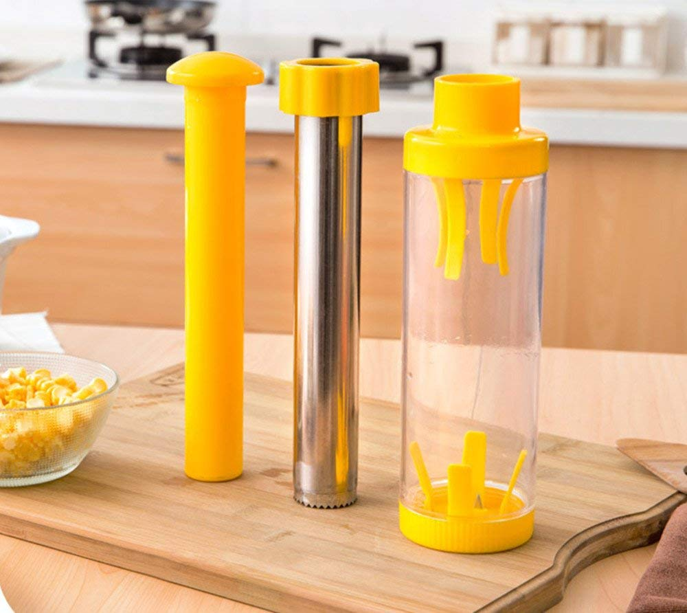 Cob Corn Stripper Stainless Steel Corn Grain Separator Cob Remover Cutter Thresher Cooking Tools Kitchen Accessories.