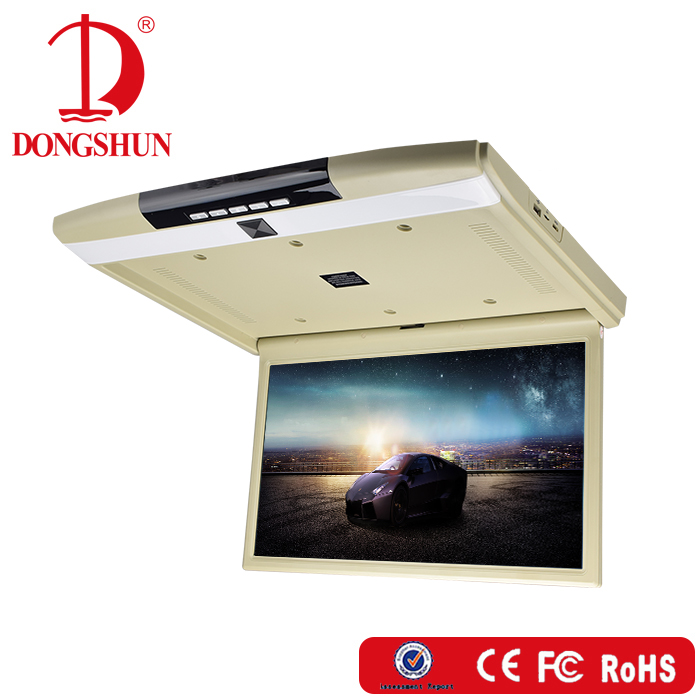17.3 inch bus roof mounted flip down mp5 monitor led car roof mounted monitor with USB/ SD/HDMI
