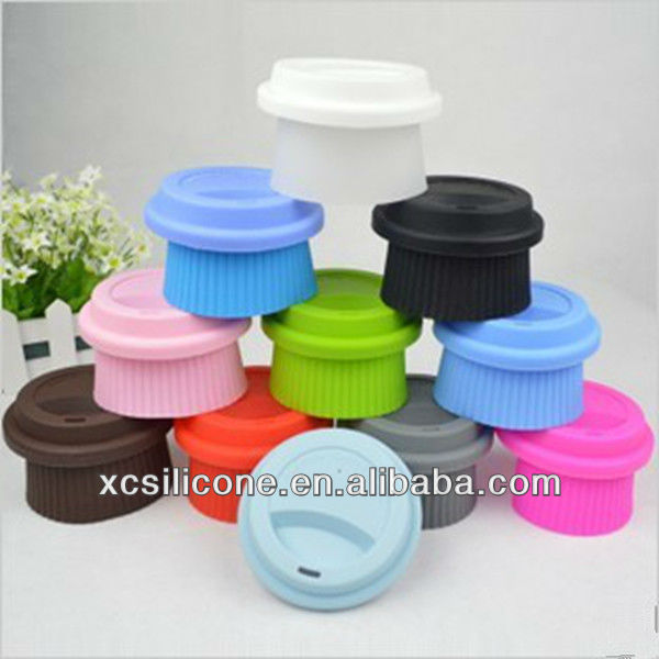 2016 promotional unbreakable silicone smart cup lid