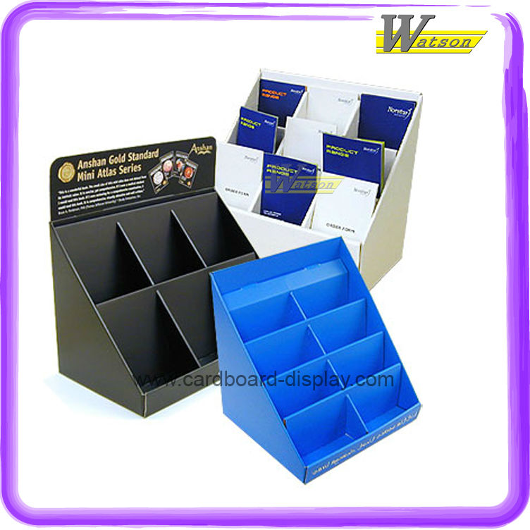 Custom-made factory price Cardboard Retail Counter Display Boxes PDQ for Stationery