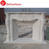 decorative natural white marble fireplace surround,marble stone fireplace
