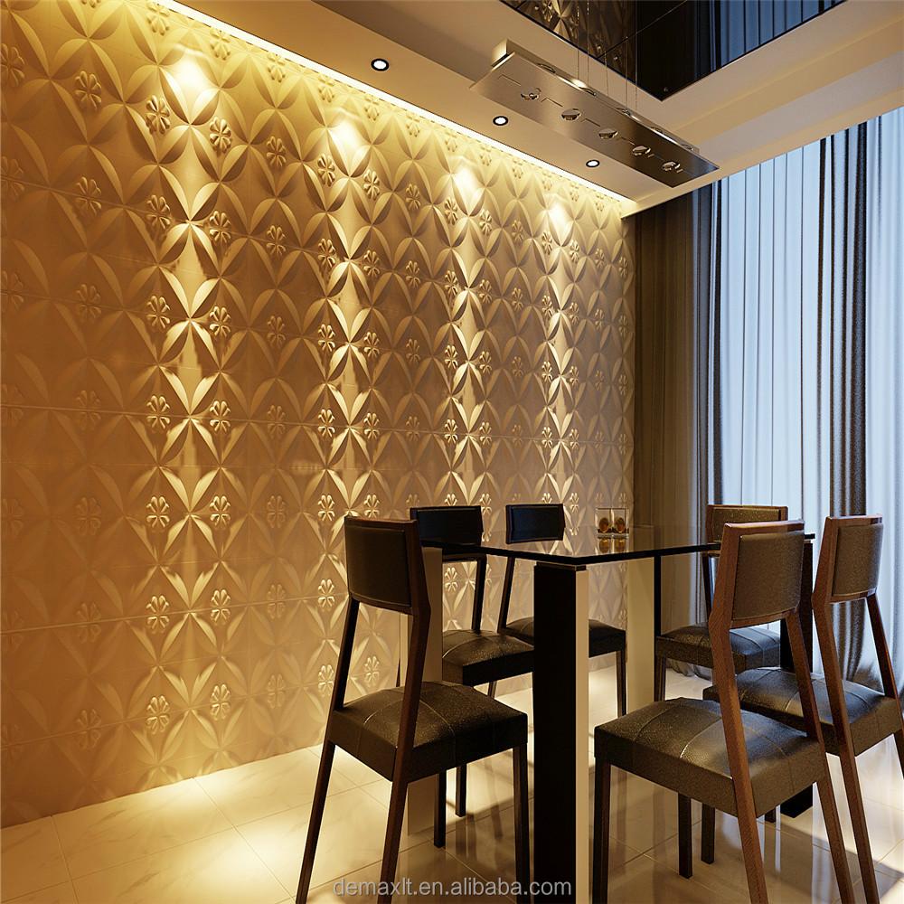 Kunst aan de muur; 3d muur panelen; licht van gewicht stenen muur ...