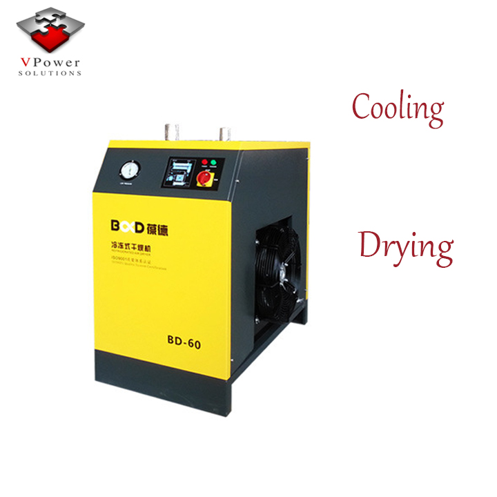 Guangzhou Factory Refrigerant Air Dryer Compressed Freezing Air Dryer Air Cooling Refrigerated Compresses Price