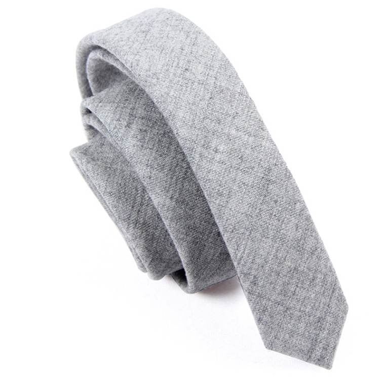 Fancy wholesale Warm Style Men's Wool Cashmere Skinny Necktie Tie