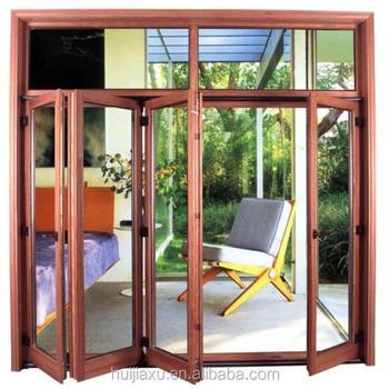 Aluminium Folding Doors/toilet Bi Folding Door/interior Temporary Folding  Door