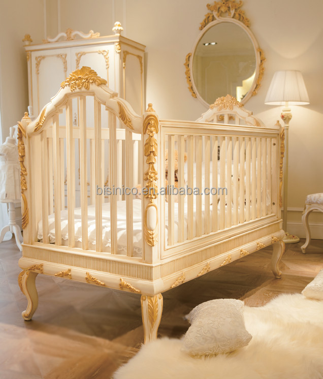 Bisini Baby Furniture Products Million Dollar Clic Crib European Style Antique Luxury Children Bedroom