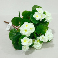 hot sale cheap wholesale artificial flower white polyester silk artificial geraniums flower for home indoor decoration