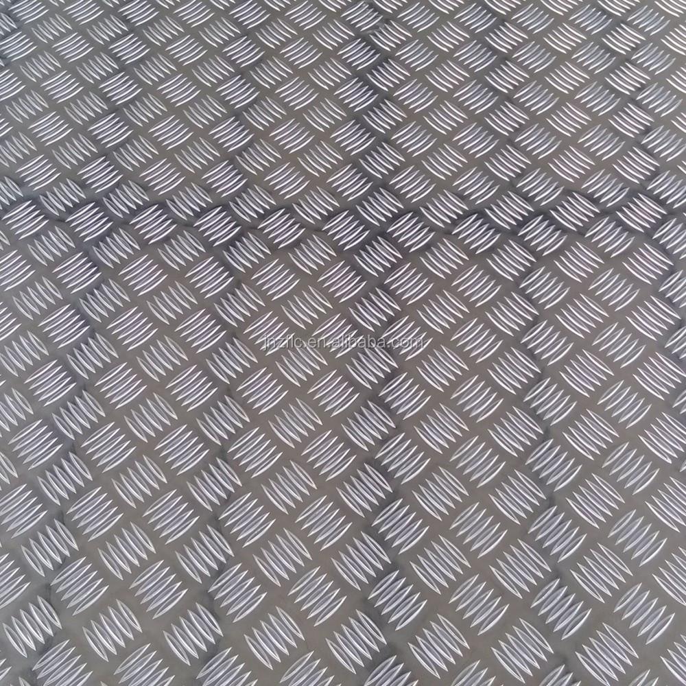 chapa estriada de aluminio antideslizante piso de la