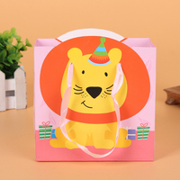 Factory sale unique design lovely printing bear cartoon cute paper hand gift bag