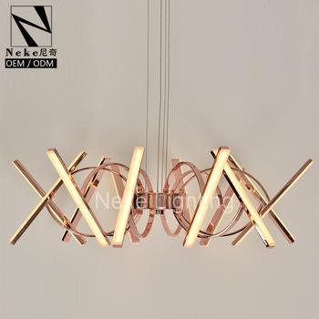 Modern Adjustable Rose Gold Acrylic Bedroom Chandeliers Buy