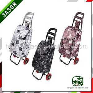 folding hand cart foldable shopping trolley with stool