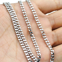 Free shipping, (40-70cm) to choose, 3mm wide,Chain Necklace, 316L Stainless Steel Necklace Men, wholesale accessories BN001