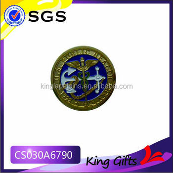United States Navy Seals Gold Challenge Coin With Anchor And Eagle