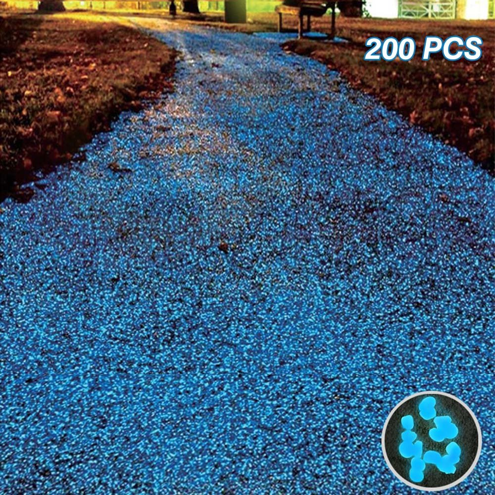 get quotations glow stones200pcs glow in the dark garden pebbles for outdoor walkways decorative and plants - Glow In The Dark Garden Pebbles
