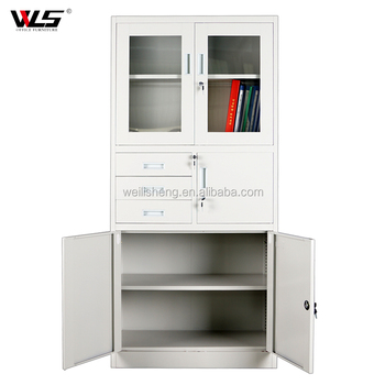 new arrival 8f558 33d99 New Design Office File Cupboard Metal Filing Cabinet With Glass Door And 3  Drawers - Buy Office Filing Cabinet,Steel Master File Cabinets,3 Drawer ...