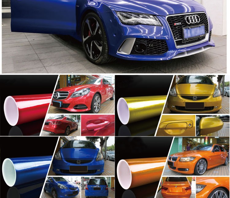 Rohs Certificate Oraccil Gold 1 52*20m Air Free Bubbles Stretchable Glossy  Candy Car Wrap Vinyl With Removable Glue - Buy Glossy Candy Stretchable
