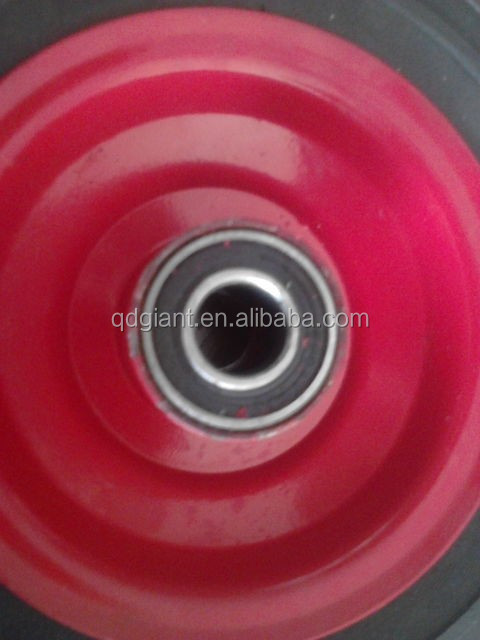 hot-selling 8'' solid rubber trolley cart wheels