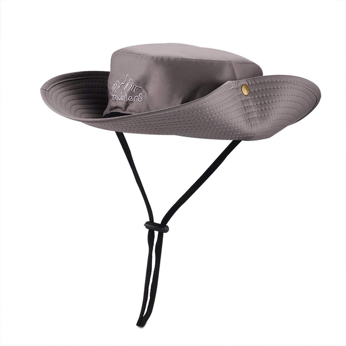 18b8ba6b5a6b5 Get Quotations · Wide Brim Waterproof Boonie Fishing Hat