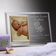 New pretty birthday crystal photo frame souvenir with newborn baby picture