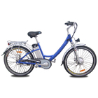 Aluminum battery Electric Bike with Nexus internal 3-speed hub 26 Inch City Bike Bicycles for adult women front basket (JSE32)