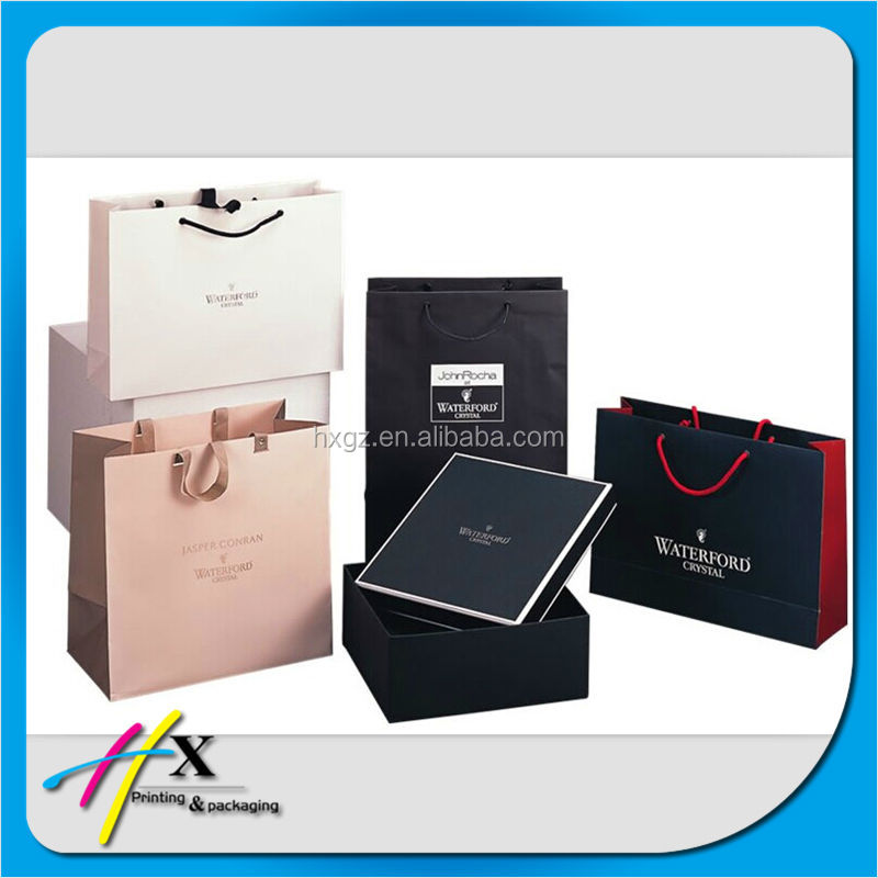 Top sale paper shoe packaging bags with various handles