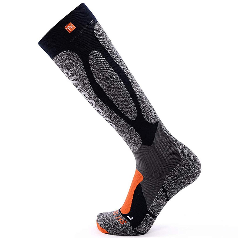 Men Compression Socks Ski Hiking Thermal Socks Wicking Athletic Winter Crew Sock