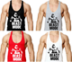 100% cotton Y-back mens gym singlet with custom printing,Top quality wholesale gym singlets