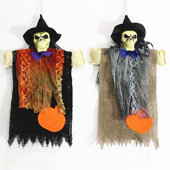 Dekorasi Rumah Hantu Halloween Hanging Skeleton Scary Horror Hantu