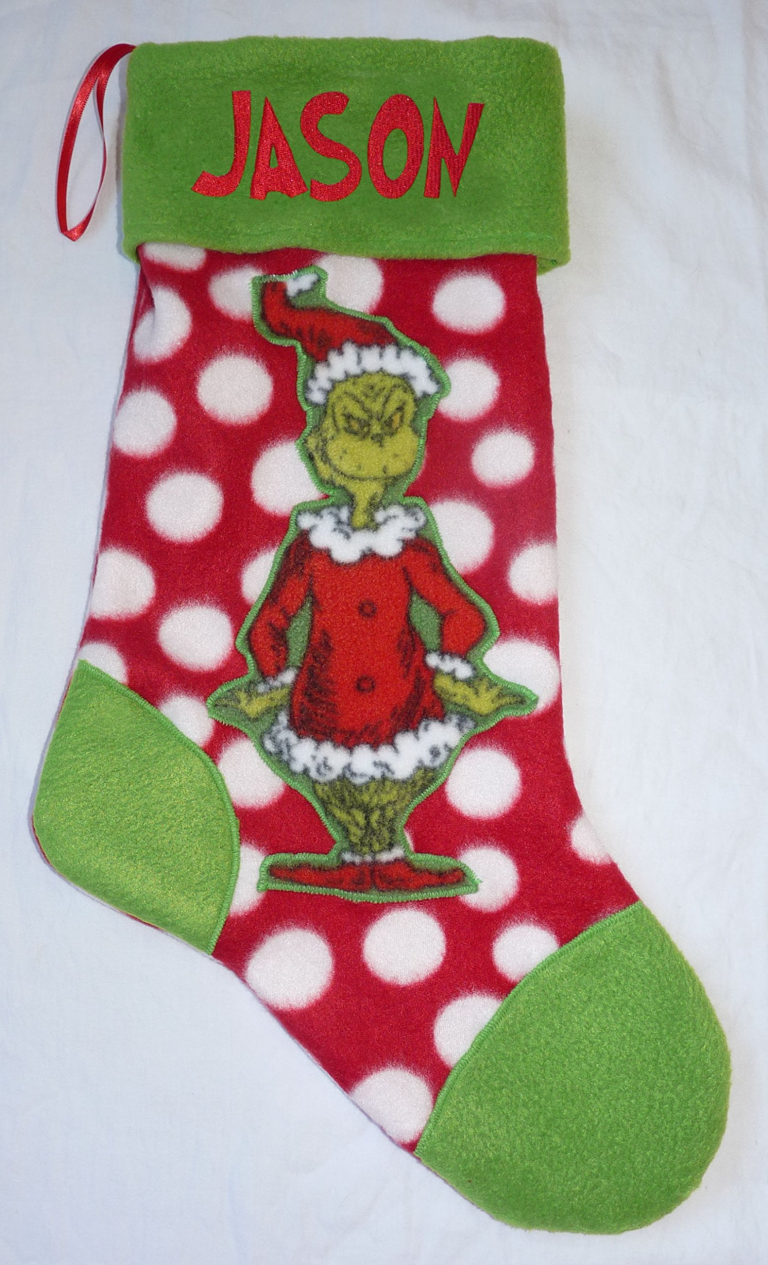 get quotations new personalized grinch christmas holiday stocking embroidered name
