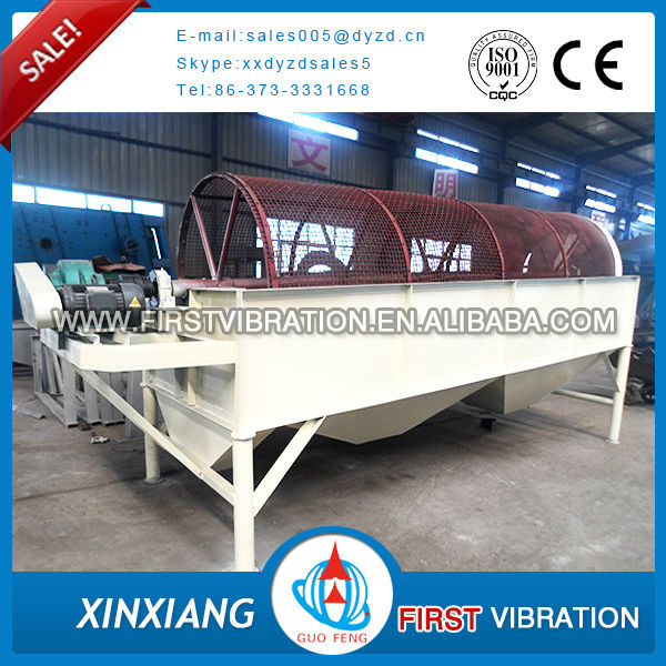 Xinxiang professional big capacity iron ore rotary trommel screen for sale