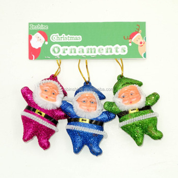 6cm styrofoam christmas santa ornaments hanging nativity christmas tree ornaments